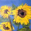 Sunflowers Original Acrylic Painting by Ginny Abblett $92.00