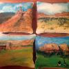 Ghost Ranch scenes pillows  SOLD