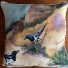 Two Magpies     Pillow    $52 SOLD