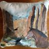 Horse and Crow Canyon   pillow  $52 SOLD