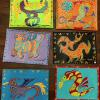 "Dragon Placemats / Wall Hangings 12""x16"" $38 each SOLD"